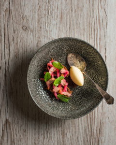 The Small Holding Rhubarb dessert
